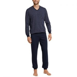 Schiesser Day and Night Long Check Pyjama 3XL-6XL