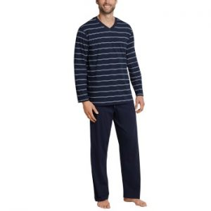 Schiesser Day and Night Long Stripe Pyjama
