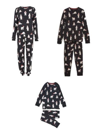 matchande julpyjamas